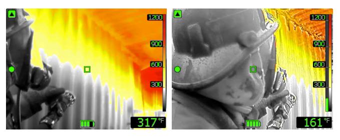 FLIR firefighter thermal image
