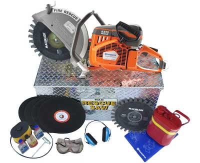Compete Rescue Saw kit K12FD and accessories