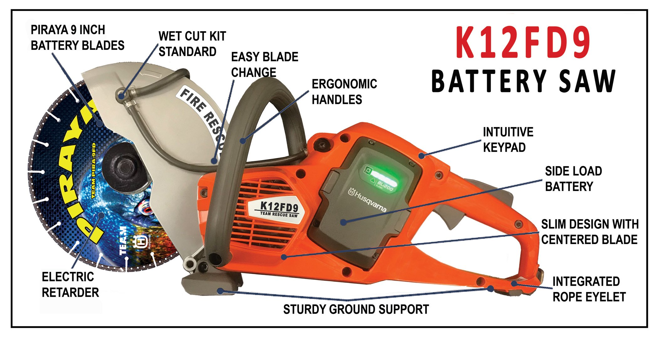 K12FD9 Battery Saw