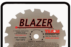 TEAM Blazer carbide tip blade for rescue saws