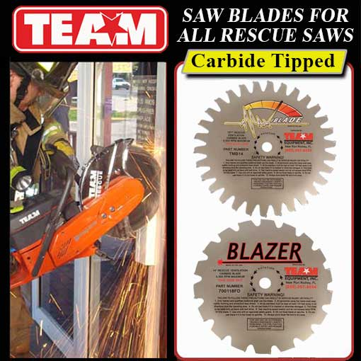 Rescue blades for rescue saws