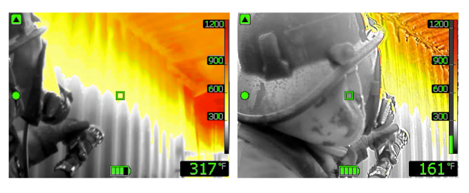 FLIR firefighter thermal image