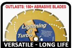 Lightning II Long lasting versatile diamond rescue saw blade