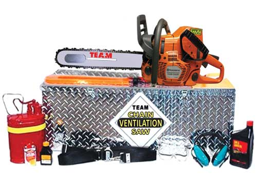 Fire rescue vent chainsaw lit