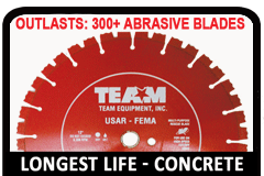 TEAM Premium Concrete cutting diamond rescue blade