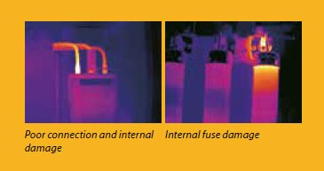 TEAM FLIR Thermal Imaging Cameras for Poor connection and fuse damage
