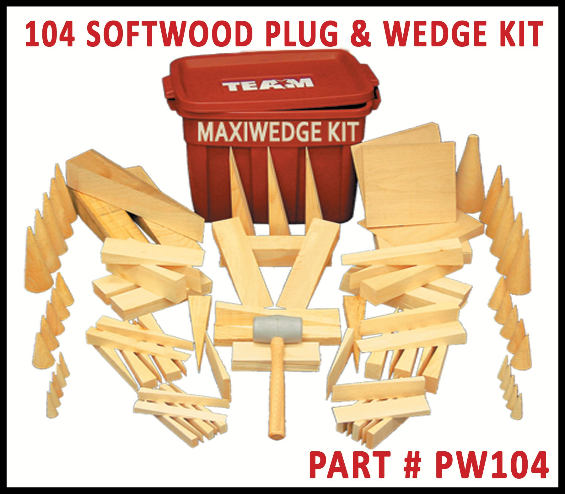 Maxiwedge Plug and Wedge Kit