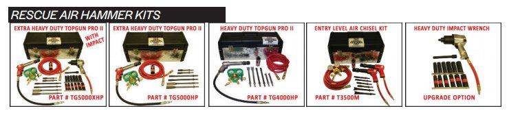 TEAM Topgun Rescue air hammer kits